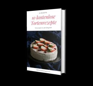 """Lade Dir jetzt HIER Dein kostenloses E-Book """"10 kostenlose Tortenrezepte"""" herunter."""
